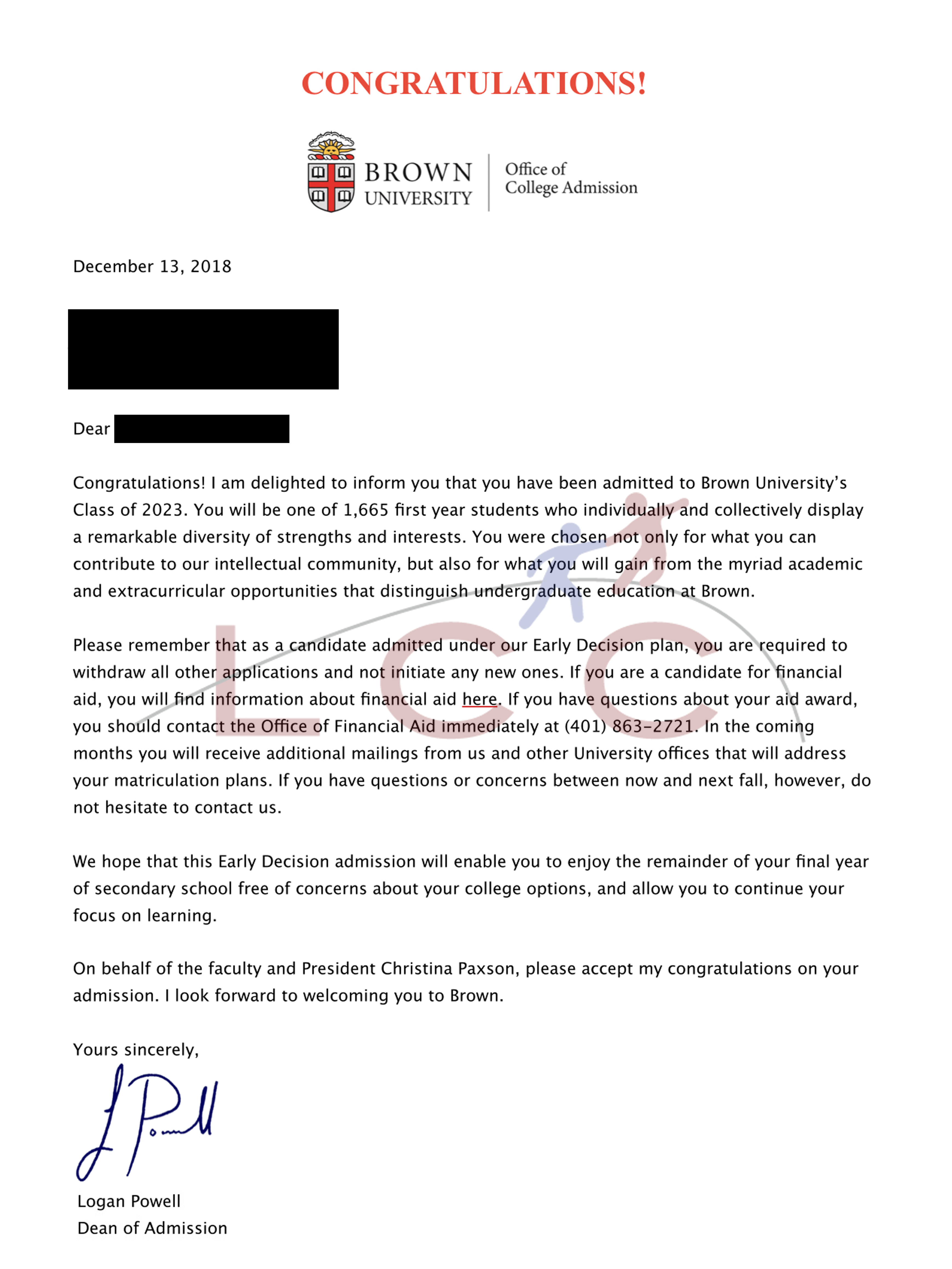 Admissions Results – LaMeire College Consulting
